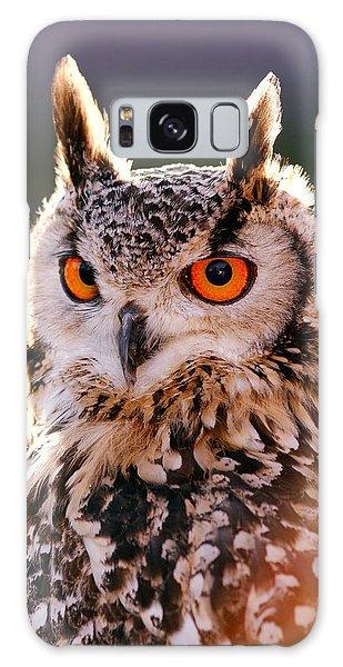 Backlit Eagle Owl Galaxy Case by Roeselien Raimond