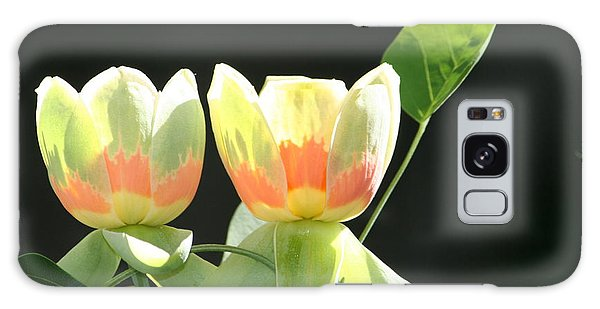 Backlit Tulips Galaxy Case
