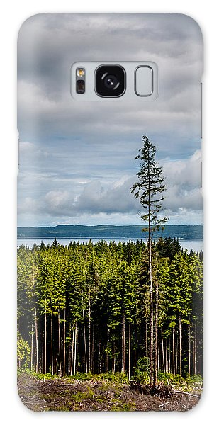 Logging Road Ocean View  Galaxy Case