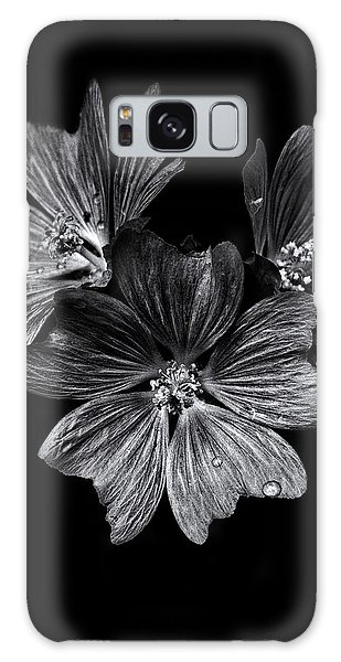 Backyard Flowers In Black And White 11 After The Storm Galaxy Case