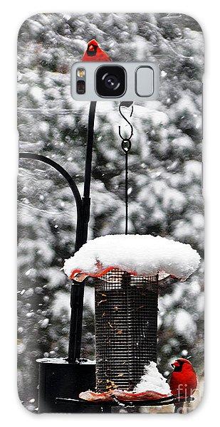 Backyard Winter Wonderland 2  Galaxy Case