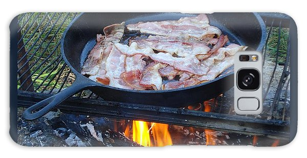 Bacon On The Campfire Galaxy Case by Patricia Overmoyer
