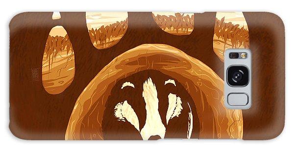 Claws Galaxy Case - Badger Paw by Daniel Hapi