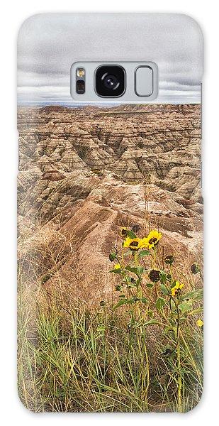 Badlands Wild Sunflowers Galaxy Case