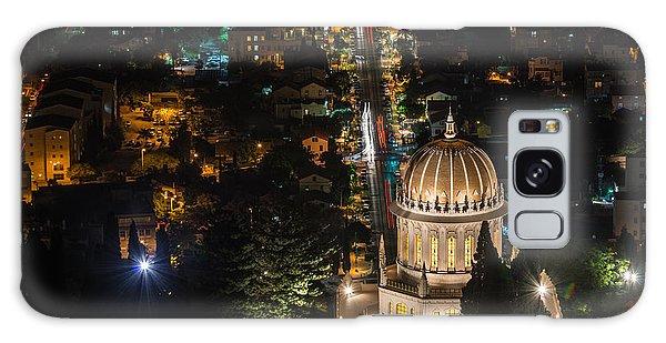 Baha'i Temple At Night Galaxy Case