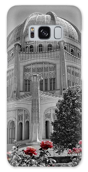 Bahai Temple Wilmette In Black And White Galaxy Case