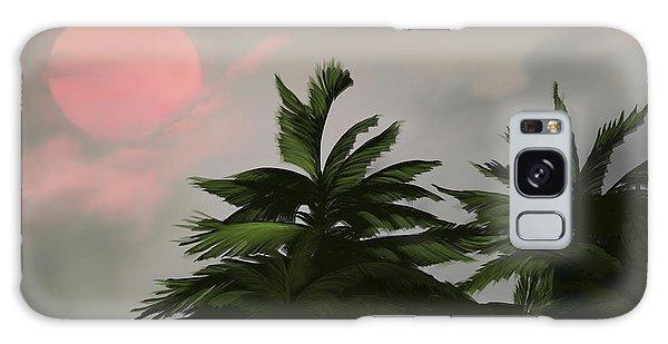 Sun Tropical Palm Breeze Galaxy Case