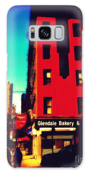 The Bakery - New York City Street Scene Galaxy Case by Miriam Danar