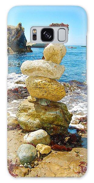 Balanced Beach Rock Stack Galaxy Case