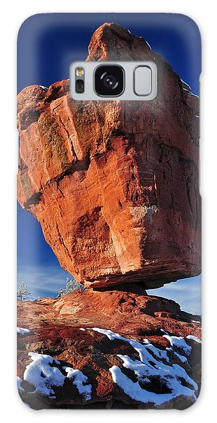 Balanced Rock At Garden Of The Gods With Snow Galaxy Case