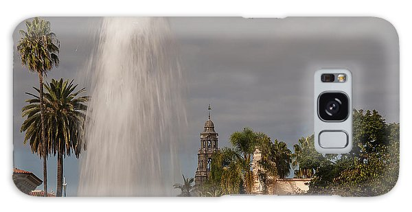 Balboa Park Fountain And California Tower Galaxy Case