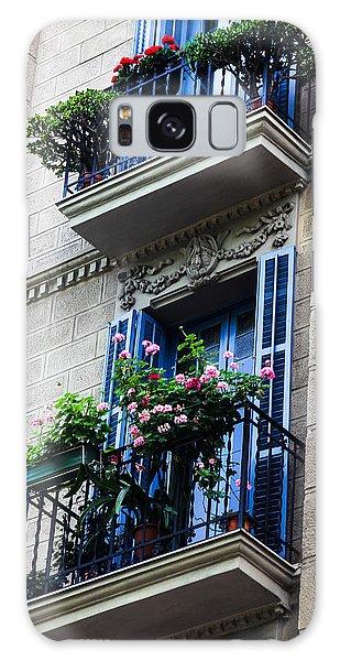 Balconies In Bloom Galaxy Case by Menachem Ganon