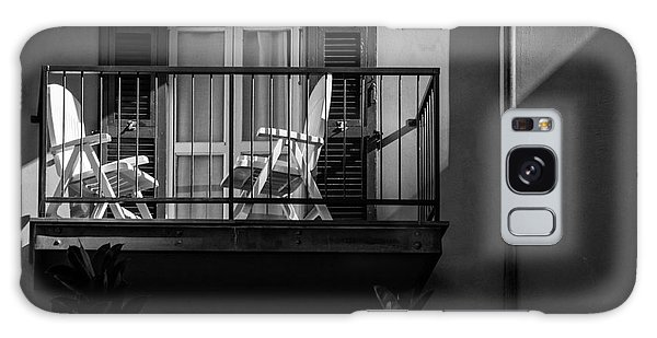Balcony Bathed In Sunlight Galaxy Case