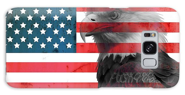 The Eagles Galaxy Case - Bald Eagle American Flag by Dan Sproul