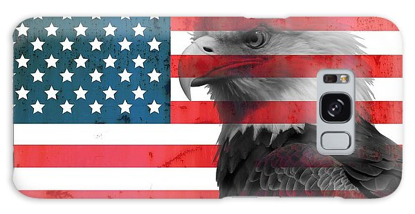 Bald Eagle American Flag Galaxy Case