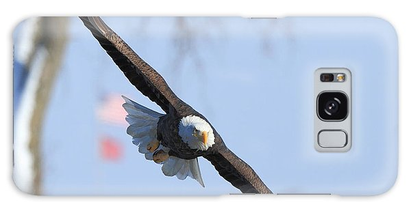 Bald Eagle And Flag Galaxy Case