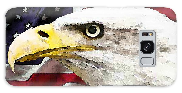 The Eagles Galaxy Case - Bald Eagle Art - Old Glory - American Flag by Sharon Cummings