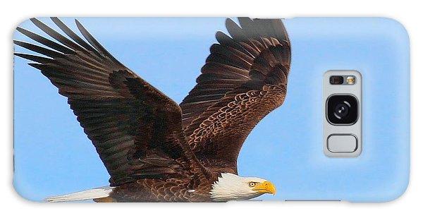 Bald Eagle In Flight Galaxy Case