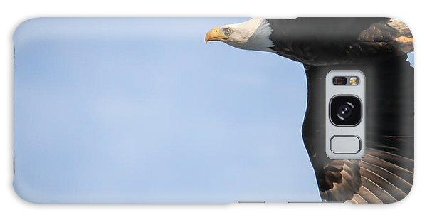 Bald Eagle In Flight Galaxy Case by Eleanor Abramson