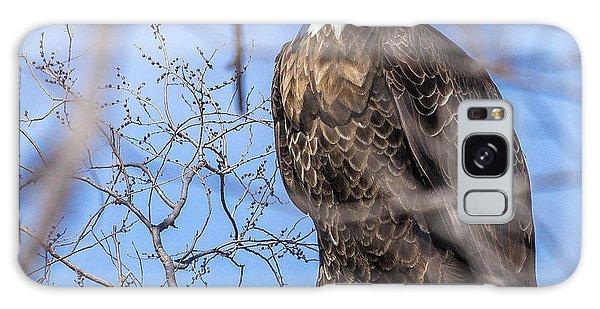 Bald Eagle On The Iowa River Galaxy Case