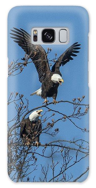 Bald Eagles Screaming Drb169 Galaxy Case by Gerry Gantt