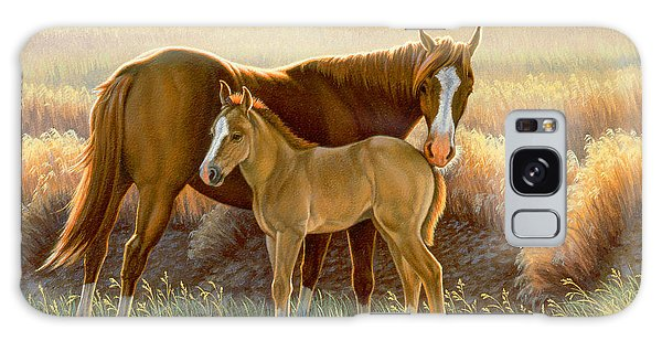 Montana Galaxy Case - Bald-faced Sorrel And Colt by Paul Krapf