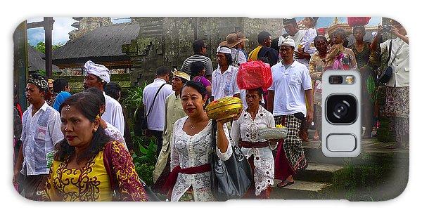 Balinese Leaving Beratan Temple Bali Galaxy Case