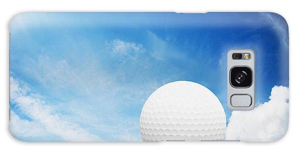 Ball On Tee On Green Golf Field Galaxy Case