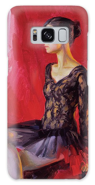 Ballerina In Black Galaxy Case