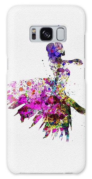 Ballerina Galaxy Case - Ballerina On Stage Watercolor 4 by Naxart Studio