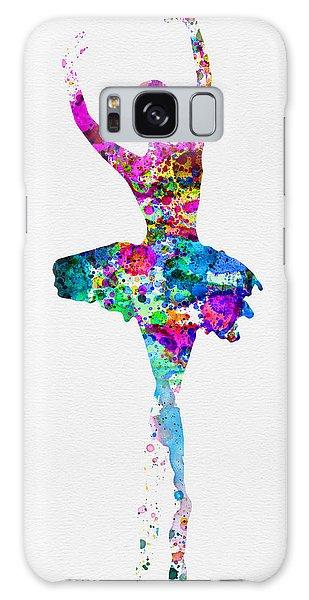 Ballerina Galaxy Case - Ballerina Watercolor 1 by Naxart Studio