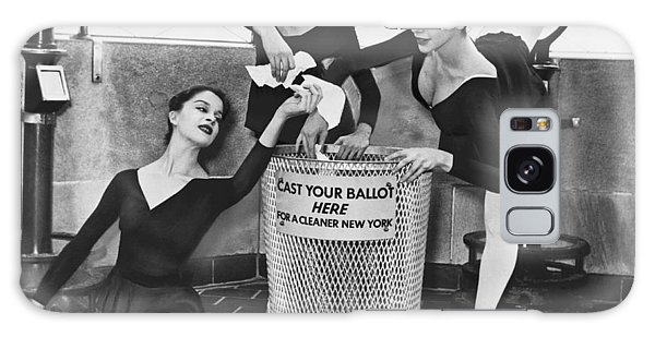 Rubbish Bin Galaxy Case - Ballet On Top Of Empire State by Herman Hiller