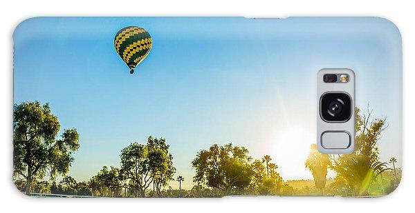 Balloon At Sunset Galaxy Case by Alex Weinstein