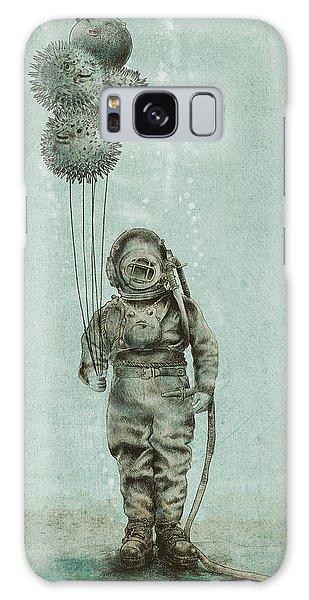 Beaches Galaxy Case - Balloon Fish by Eric Fan