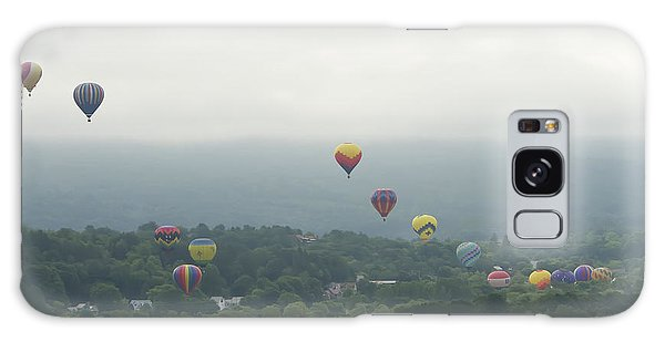 Balloon Rise Over Quechee Vermont Galaxy Case