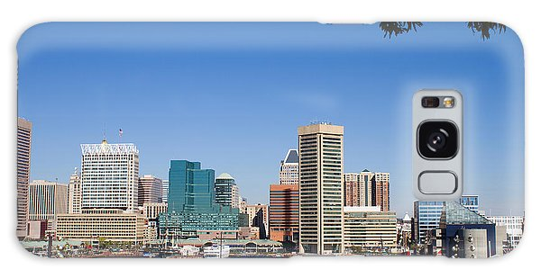 Baltimore Harbor Skyline Galaxy Case