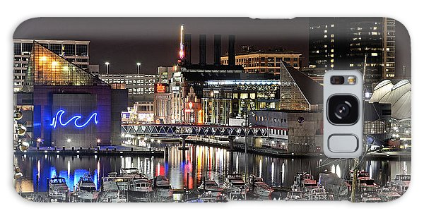 Baltimore Inner Harbor At Night Galaxy Case