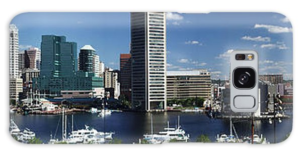 Baltimore Inner Harbor Panorama Galaxy Case by Bill Swartwout