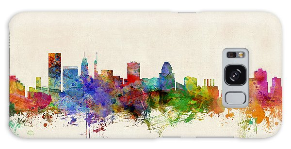 Poster Galaxy Case - Baltimore Maryland Skyline by Michael Tompsett