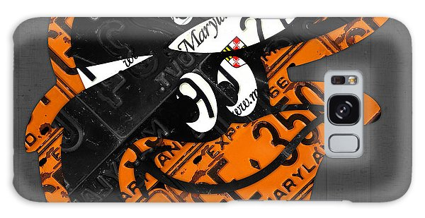 Baltimore Orioles Vintage Baseball Logo License Plate Art Galaxy Case