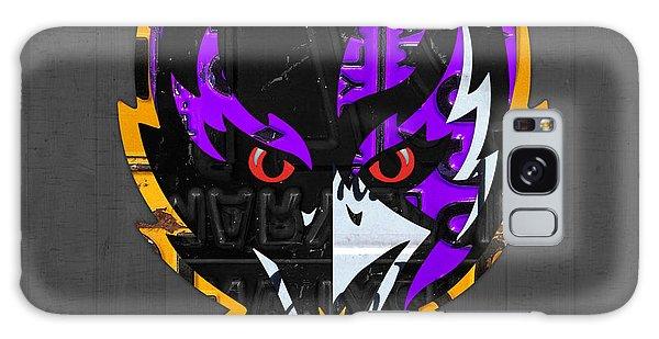 Baltimore Ravens Football Team Retro Logo Maryland License Plate Art Galaxy Case