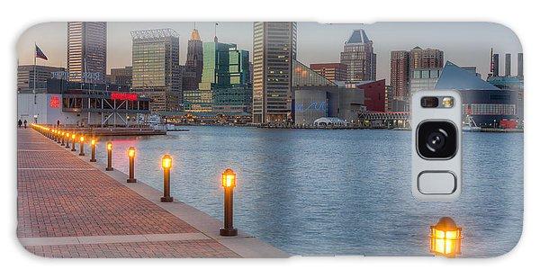 Baltimore Skyline At Twilight I Galaxy Case