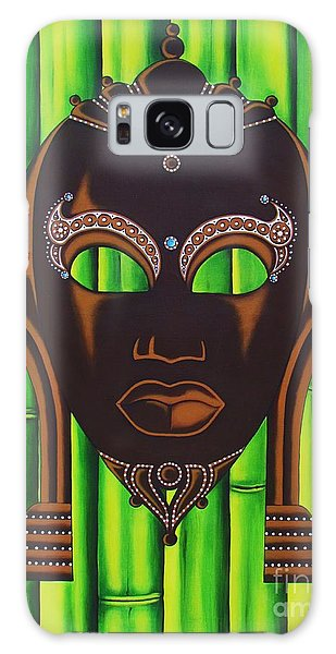 Bamboo Mask Galaxy Case by Joseph Sonday