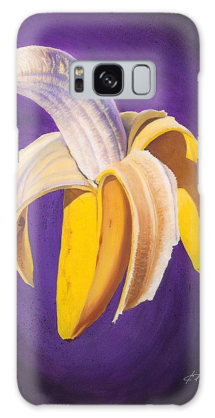 Banana Half Peeled Galaxy Case by Karl Melton