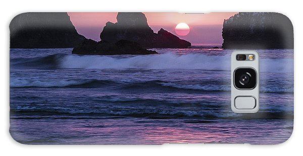 Bandon Beach Sunset Galaxy Case