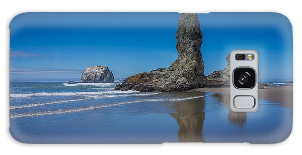 Bandon Oregon Sea Stacks Galaxy Case