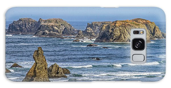 Bandon Beach Landscape Galaxy Case