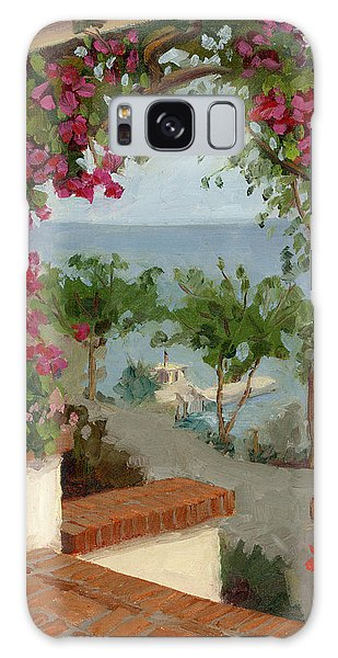 Banning House Bougainvillea Galaxy Case by Alice Leggett