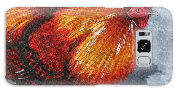Bantam Rooster 2 Galaxy Case by Penny Birch-Williams