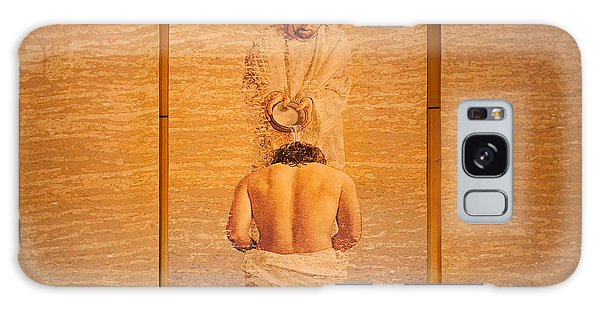 Baptism Of Jesus By Saint John The Baptist - Cathedral Of Our Lady Of The Angels Los Angeles Galaxy Case by Ram Vasudev